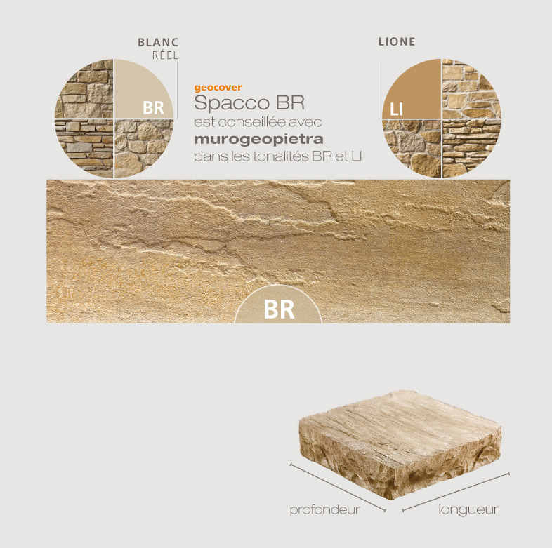 couvertine Spacco beige